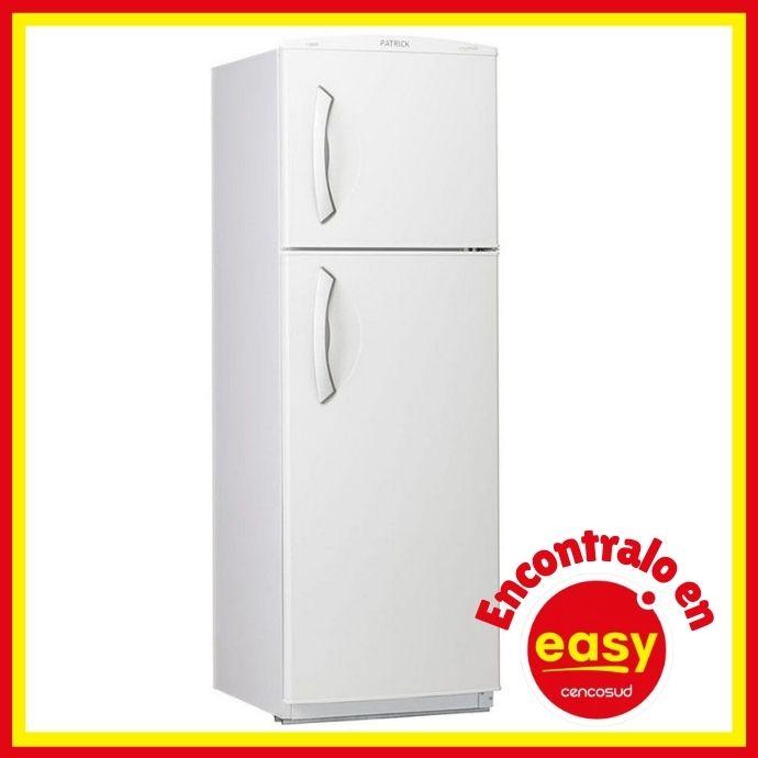 promociones heladera con freezer de easy marca patrick modelo hpk135bl de 265 litros color blanco